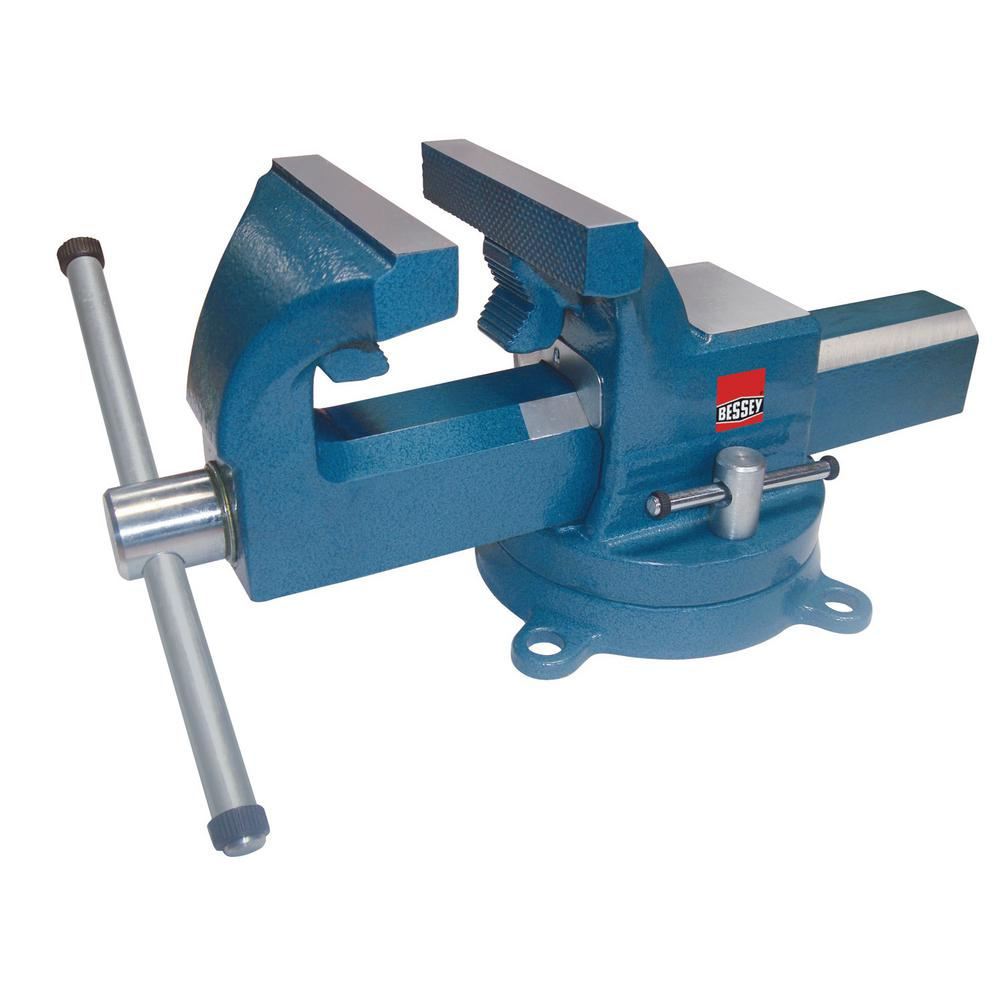 8 in. Drop Forged Bench Vise with Swivel Base