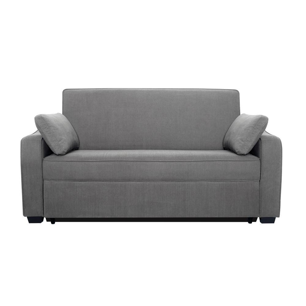Serta Harrington Grey Queen Sized Pullout Sofa-Harrington ...