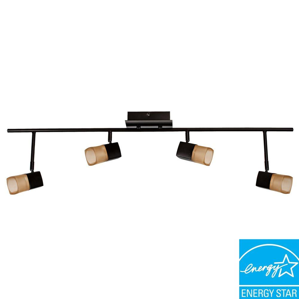 Hampton Bay Vega 3.6 ft. 4-Light Oil-Rubbed Bronze LED Track Lighting
