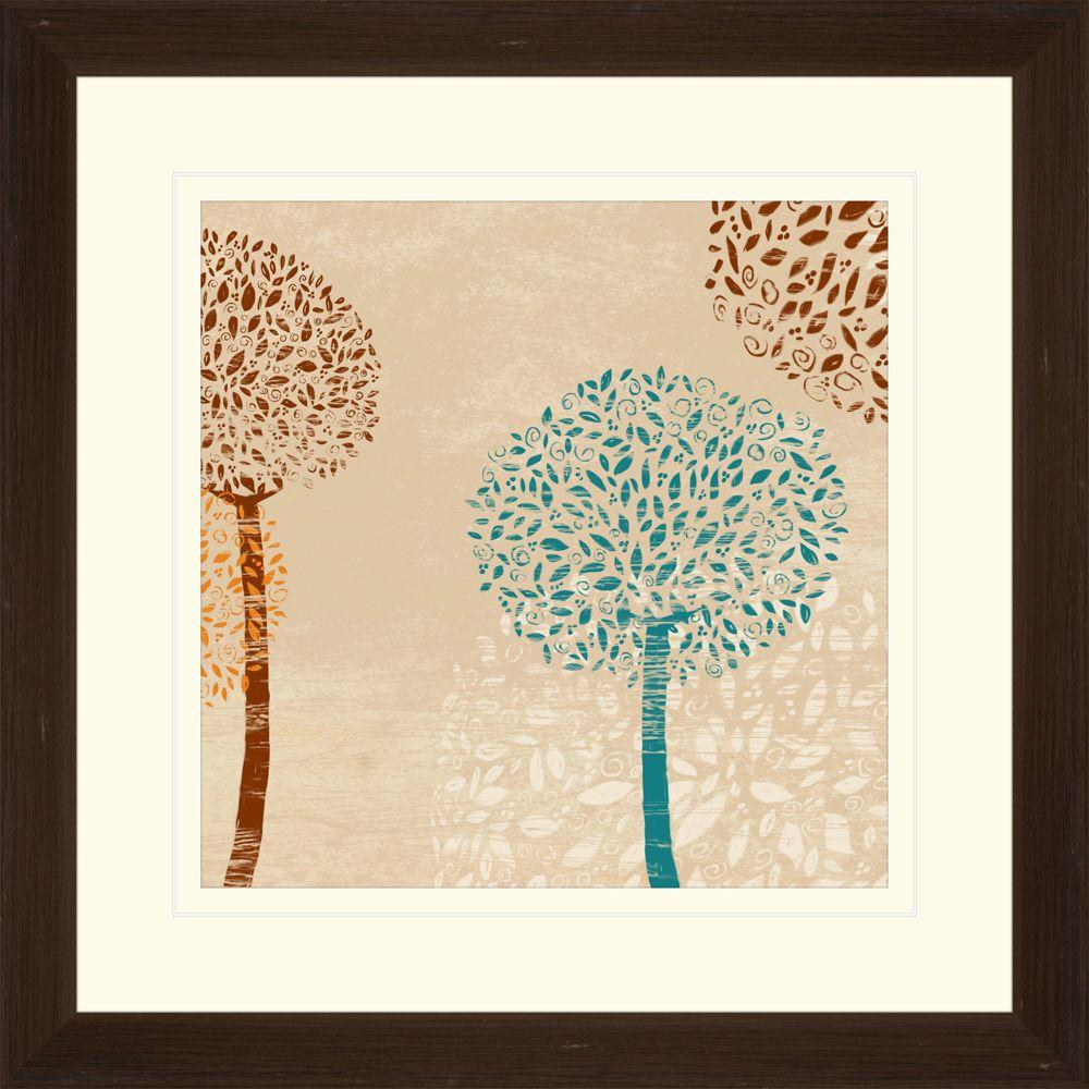 """null 17.75 in. x 17.75 in. """"Puffball Floral A"""" Framed Wall Art"""