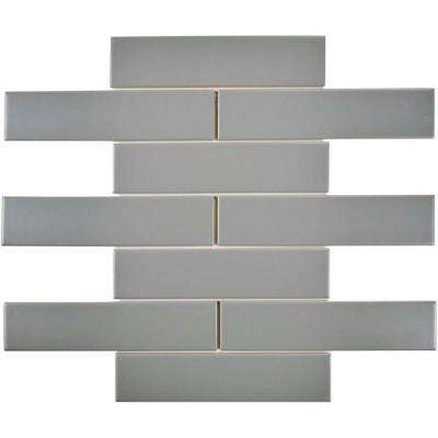 Metro Soho Subway Matte Light Grey 1-3/4 in. x 7-3/4 in. Porcelain Floor and Wall Tile (1 sq. ft. / pack)