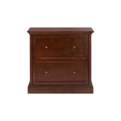 Royce Smokey Brown Wood 2 Drawer Wide File Cabinet (33 in. W x 31 in. H)