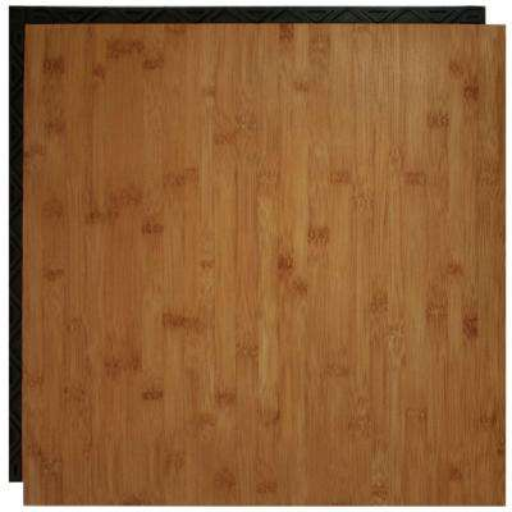 Bamboo 18.5 in. x 18.5 in. Interlocking Waterproof Vinyl Tile with Built-In Underlayment