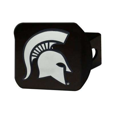 NCAA Michigan State University Class III Black Hitch Cover with Chrome Emblem