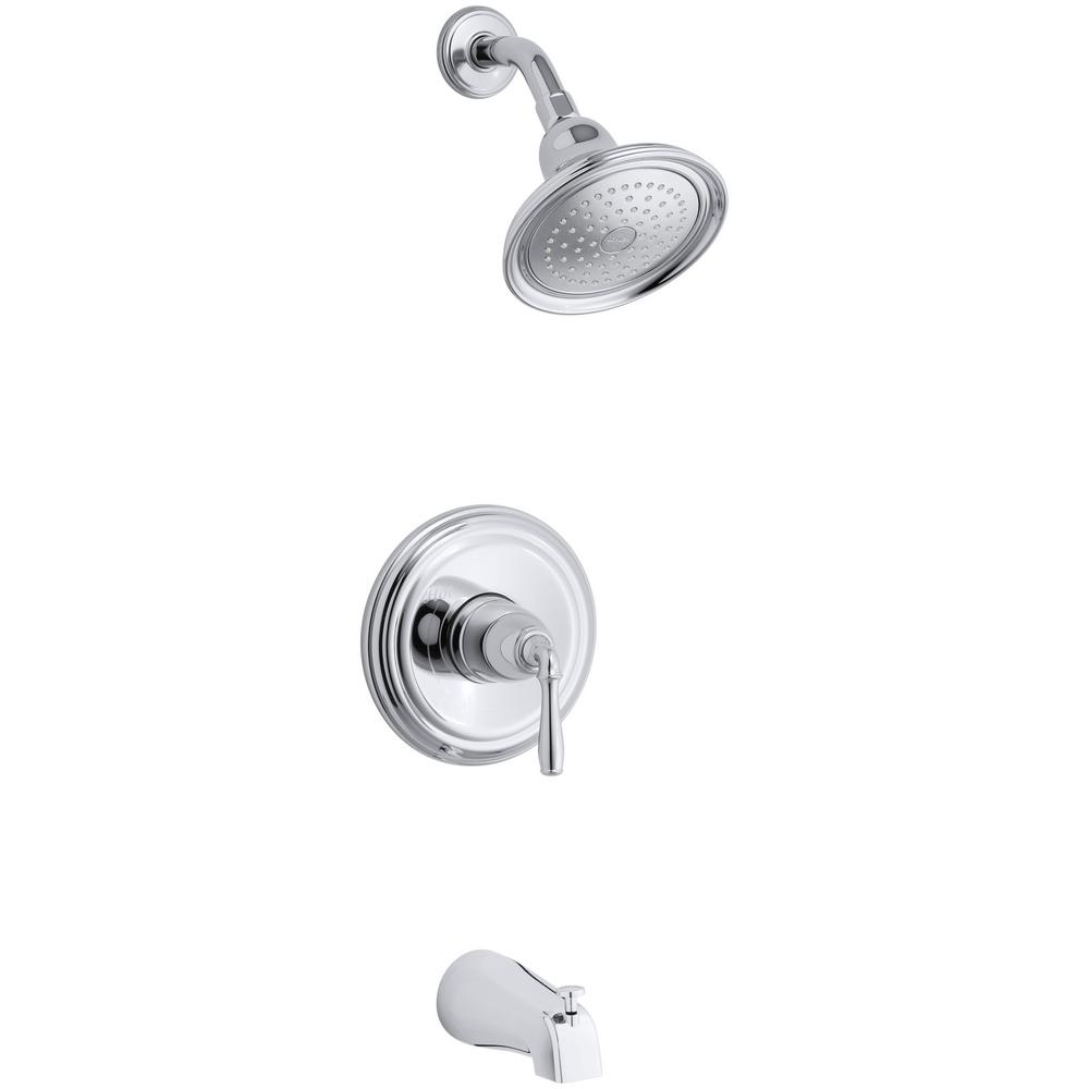 Devonshire 1-Handle 1-Spray 2.0 GPM Tub and Shower Faucet with Lever