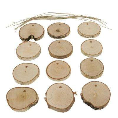 Live Edge Birch DIY Christmas Ornament Set (12-Piece)
