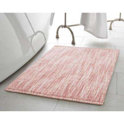 Taylor Reversible Cotton Slub 17 in. x 24 in. Bath Rug in Blush