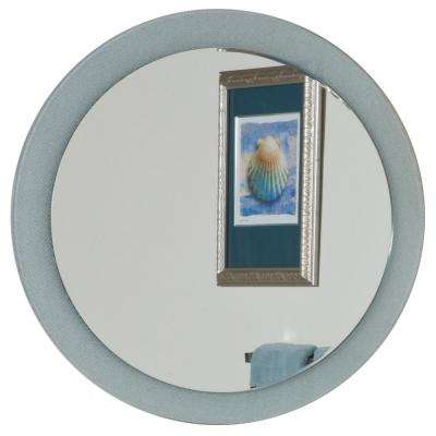 28 in. x 28 in. Single Round Zoe Bathroom Mirror with Beveled Edge