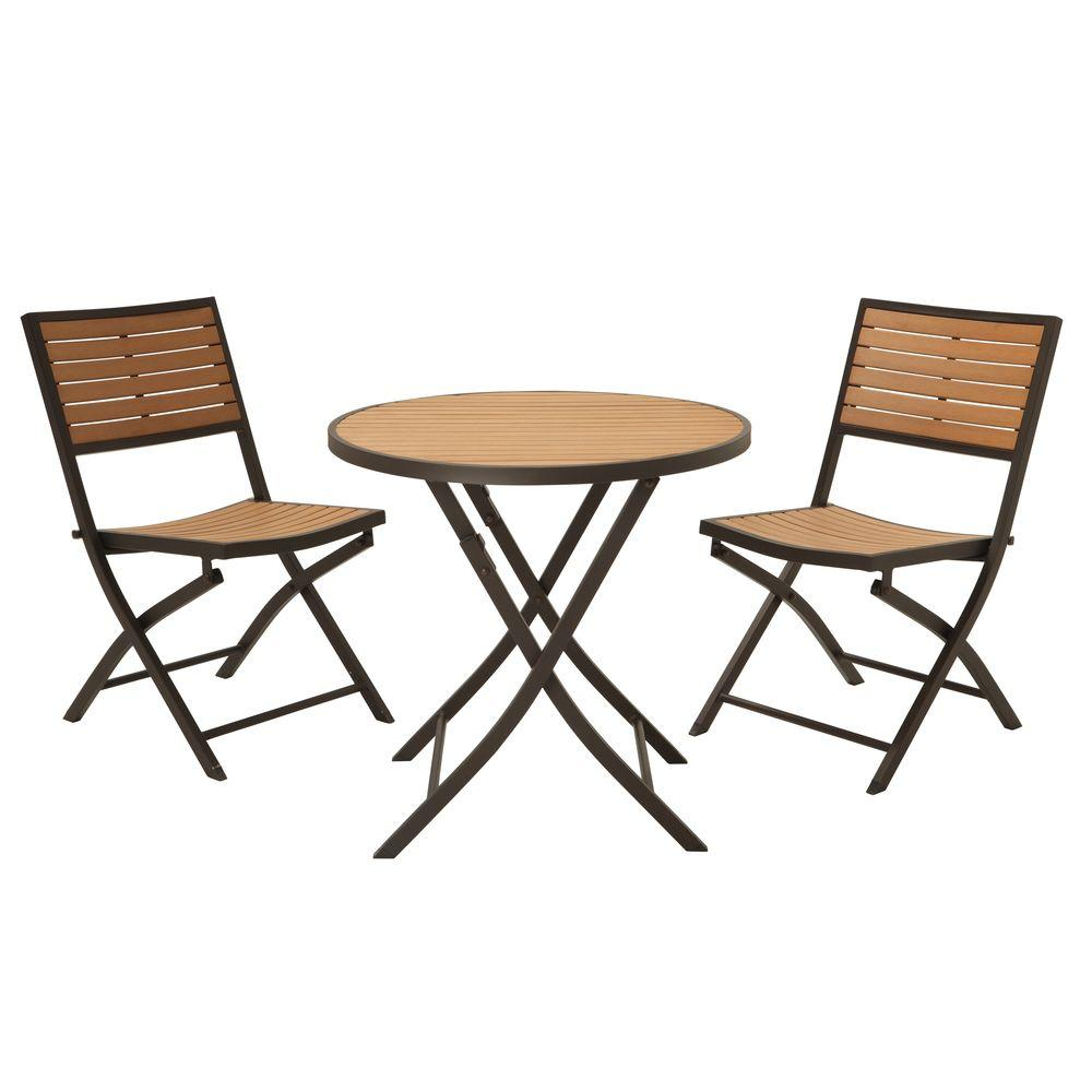 3 Piece Folding Patio Bistro Set