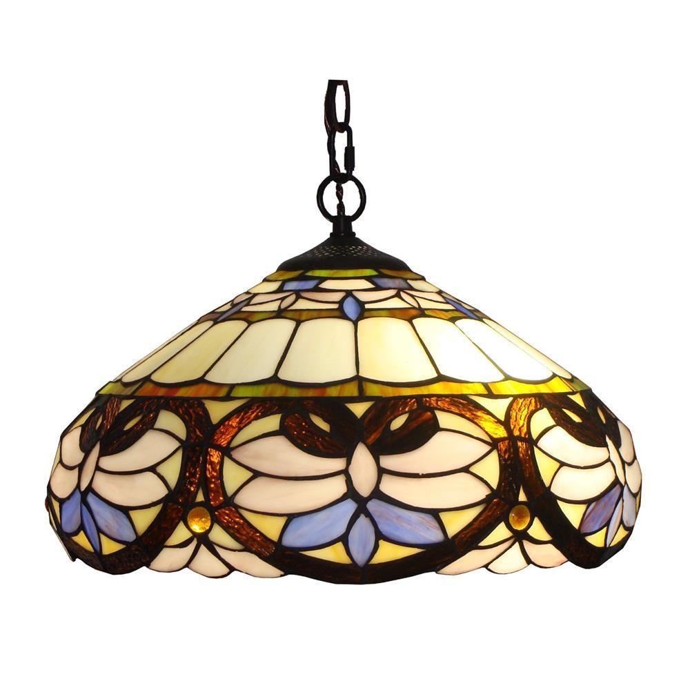 2-Light Tiffany Style Baroque Pendant