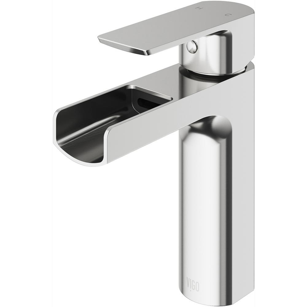 VIGO Ileana Single Hole Single-Handle Bathroom Faucet in Brushed Nickel