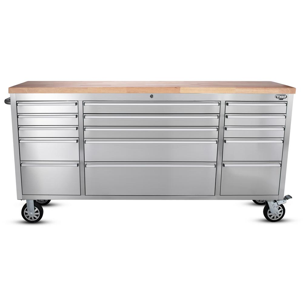 15 drawer workbench stainless steel - Stainless Steel Work Bench