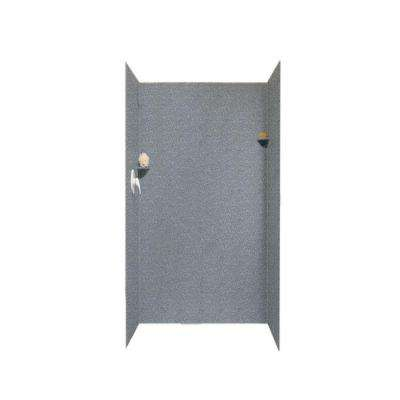 36 in. x 36 in. x 72 in. 3-Piece Easy Up Adhesive Alcove Surround in Night Sky