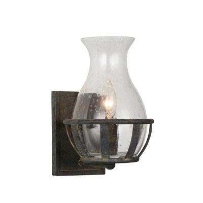 Imperial 1-Light Antique Black Sconce  sc 1 st  Home Depot : black iron sconces - www.canuckmediamonitor.org