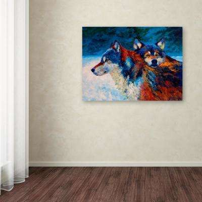 """24 in. x 32 in. """"Wolves"""" by Marion Rose Printed Canvas Wall Art"""