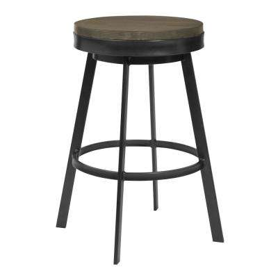 Topeka 25 in. Grey Walnut Barstool