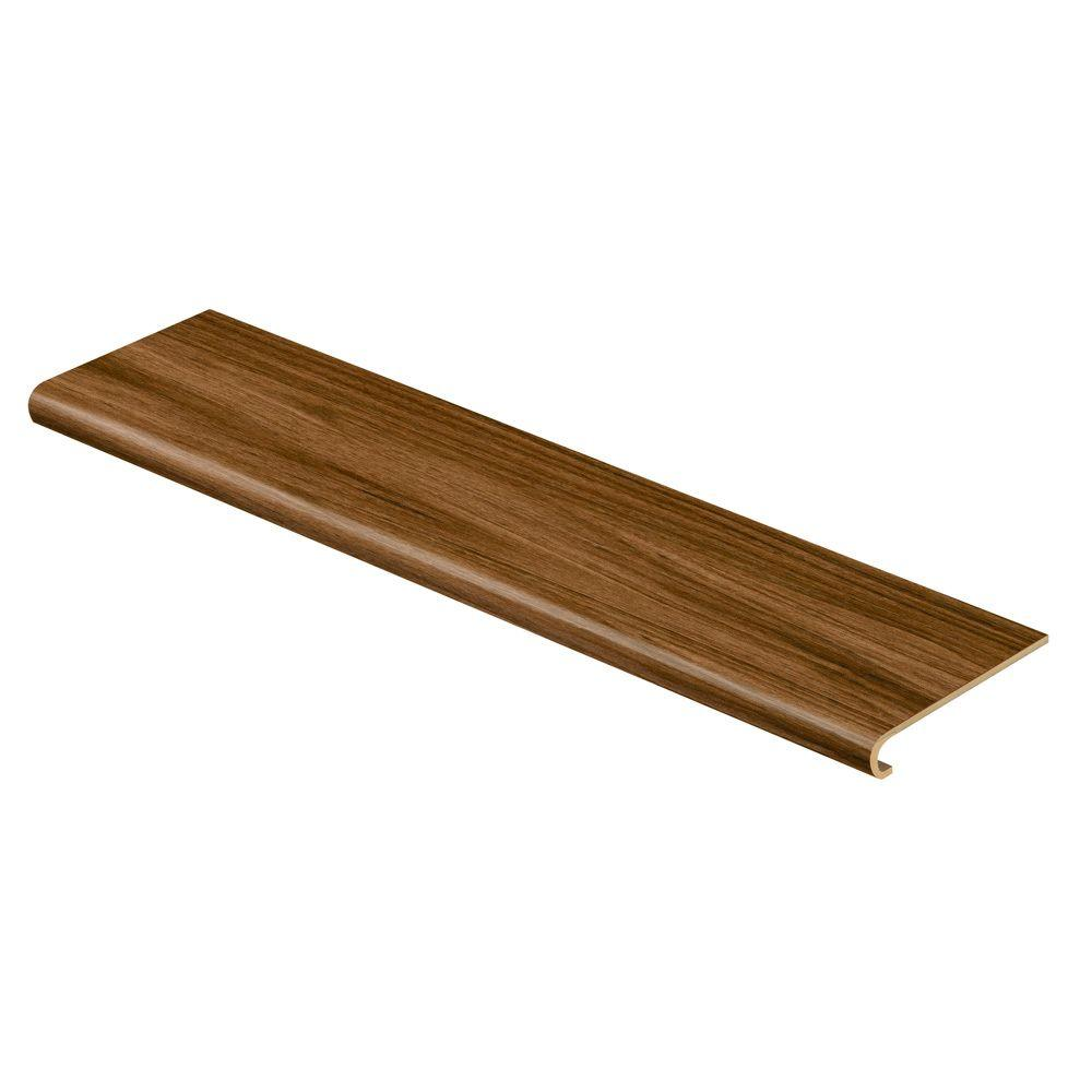 Cap A Tread Dark Walnut 94 in. Long x 12-1/8 in. Deep x 1-11/16 in. Height Vinyl to Cover Stairs 1 in. Thick