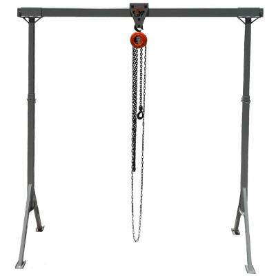 Light Duty #1 Complift 600 lb. 8 ft. x 8 ft. Steel Adjustable Gantry Crane