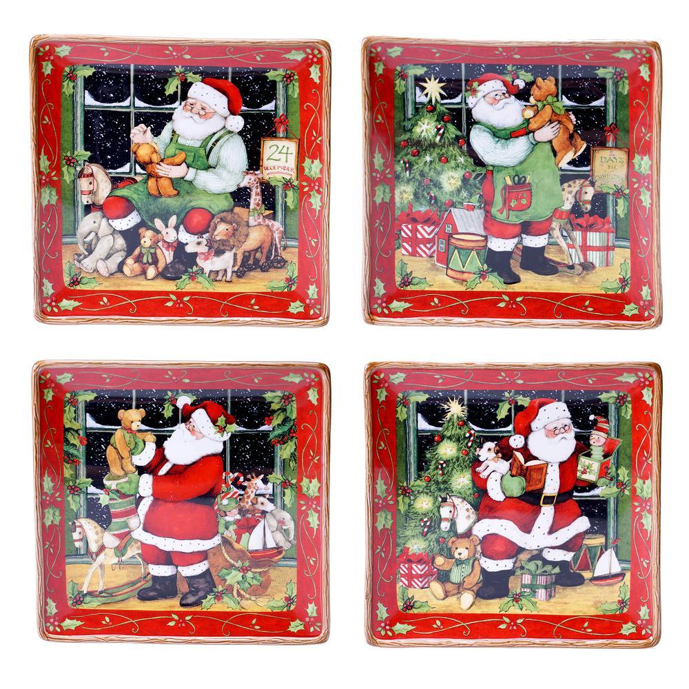 Santa's Workshop 10.25 in. Dinner Plate (Set of 4)