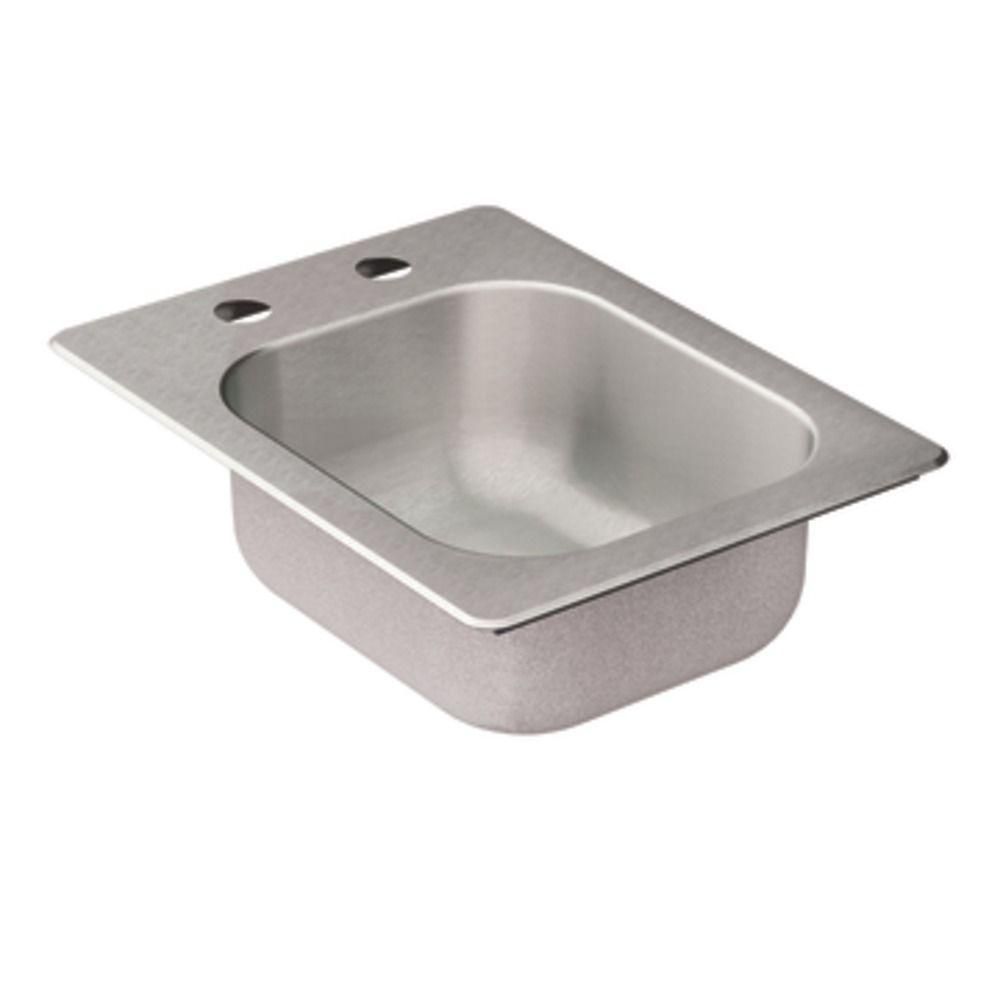 Merveilleux MOEN 2000 Series Drop In Stainless Steel 16.625 In. 2 Hole Bar Single