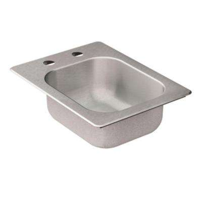2000 Series Drop-in Stainless Steel 16.625 in. 2-Hole Single Bowl Bar Sink