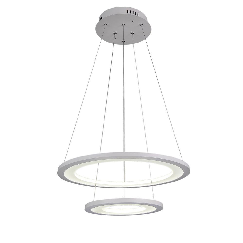 Alloha 36-Watt White Integrated LED Chandelier
