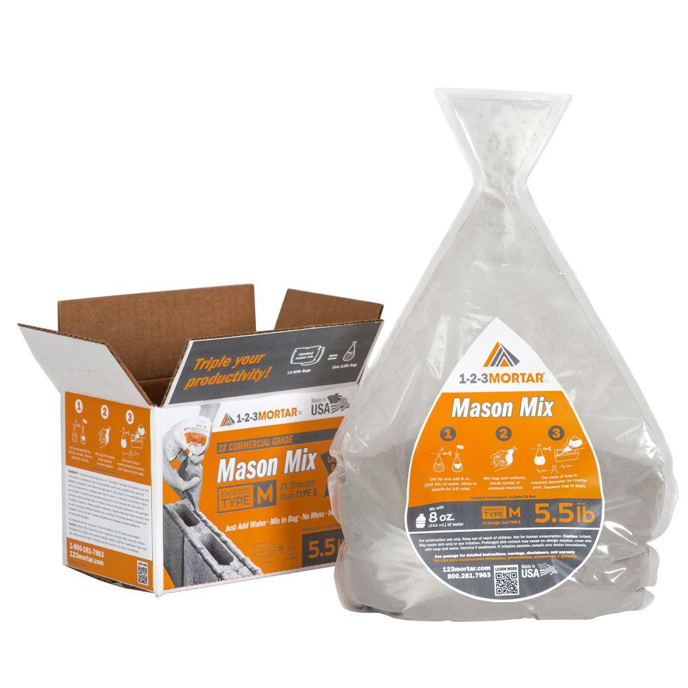 5.5 lb. Type M Commercial Grade Mason Mortar Mix