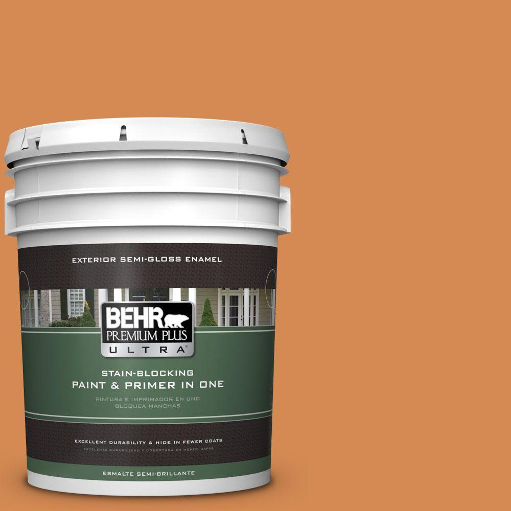 BEHR Premium Plus Ultra 5-gal. #260D-5 Amber Wave Semi-Gloss Enamel Exterior Paint