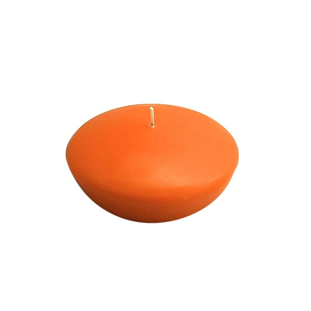 3 in. Orange Floating Candles (Box of 12)