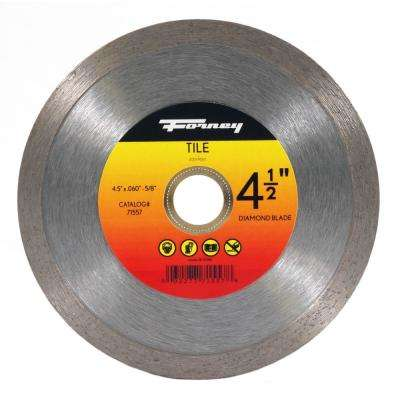 4-1/2 in. Continuous Rim Diamond Tile-Cutting Blade