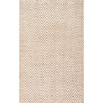 Chevron Beige Area Rugs Rugs The Home Depot