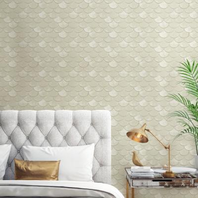 Genevieve Gorder Brass Belly Pearl Self-Adhesive, Removable Wallpaper
