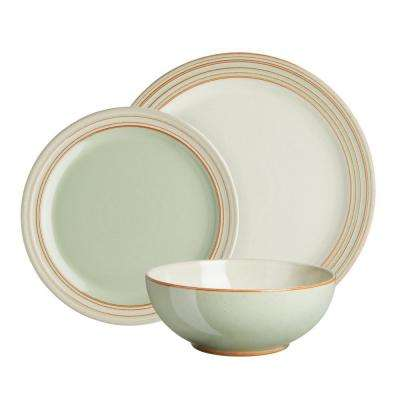 Heritage Orchard 12-Piece Green Dinnerware Set