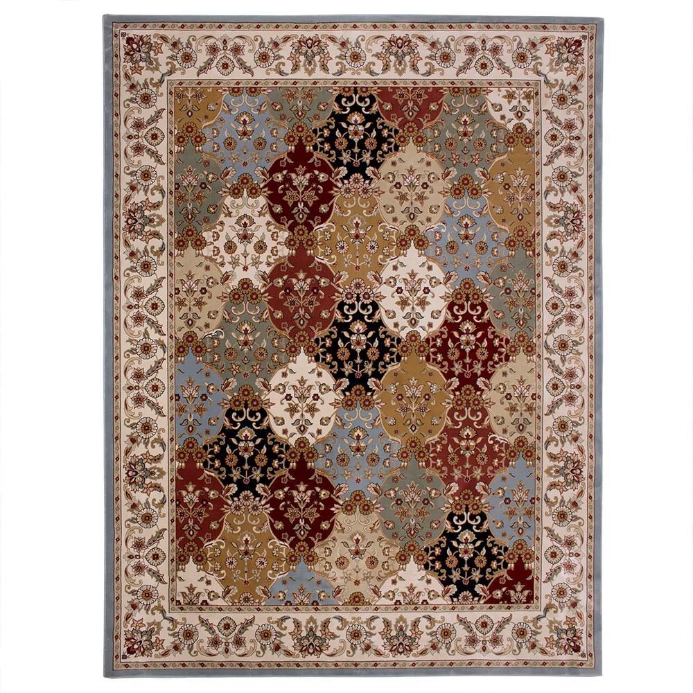 Brand-new Carpet Art Deco Eternity Multi 8 ft. x 10 ft. Area Rug-RGAR058854  HL06