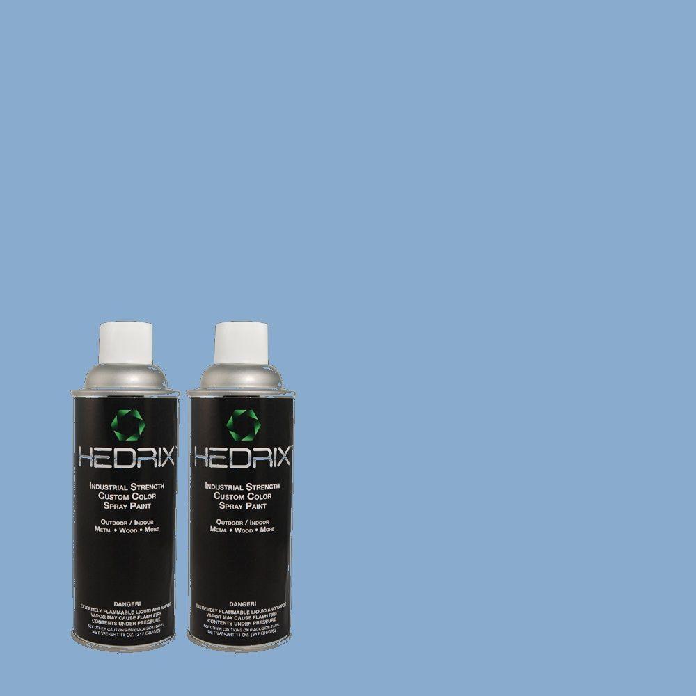 Hedrix 11 oz. Match of 1A38-4 Daphne Semi-Gloss Custom Spray Paint (2-Pack)