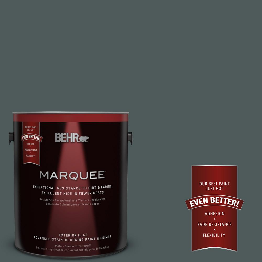1-gal. #N440-7 Midnight in NY Flat Exterior Paint