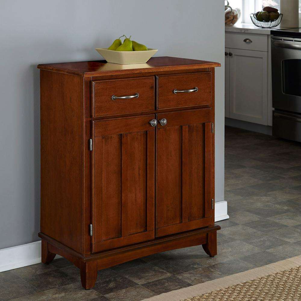 home styles cherry buffet with storage-5002-0072 - the