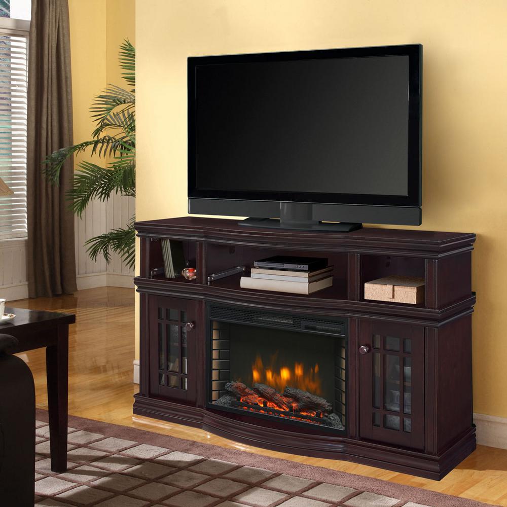 Muskoka Sutton 56 inch Media Electric Fireplace in Espresso by Muskoka