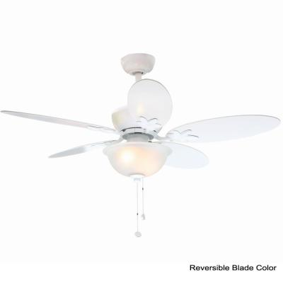 Harper II 44 in. Indoor White Ceiling Fan with Light Kit