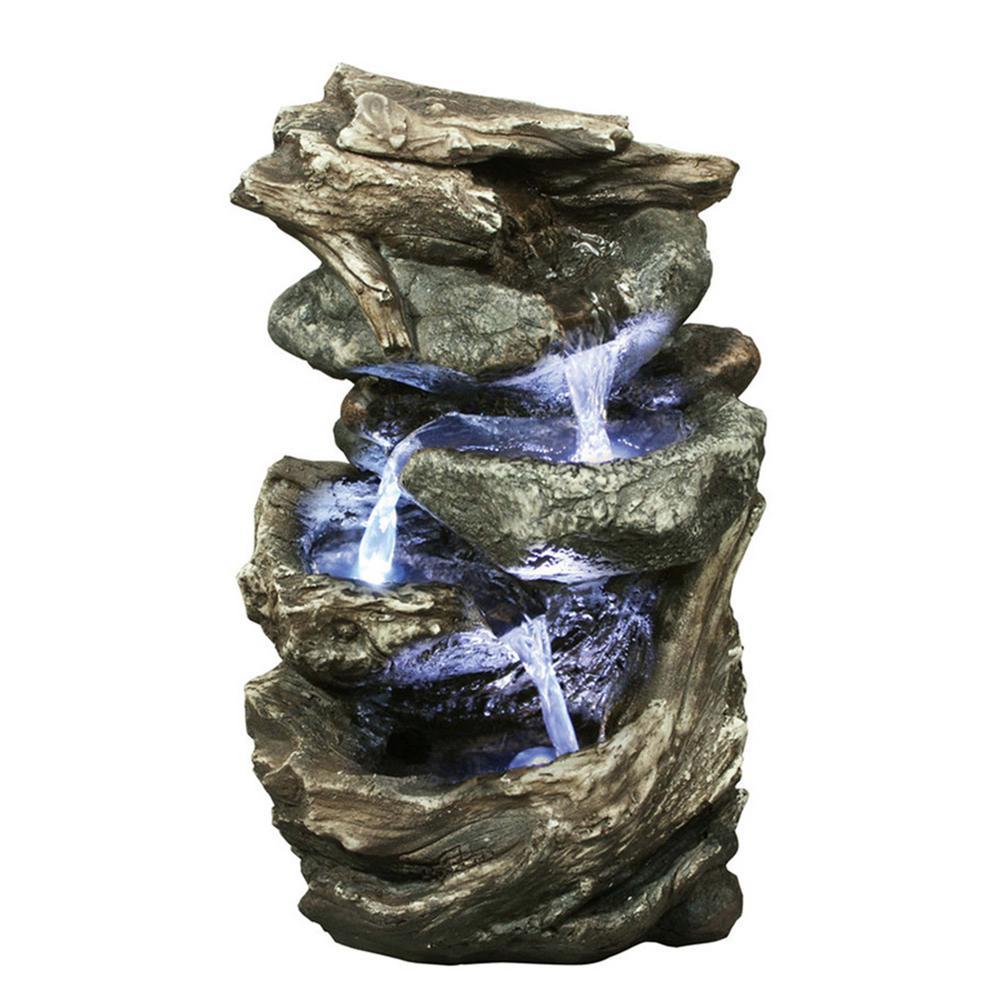 Log/Stone Waterfall Fountain