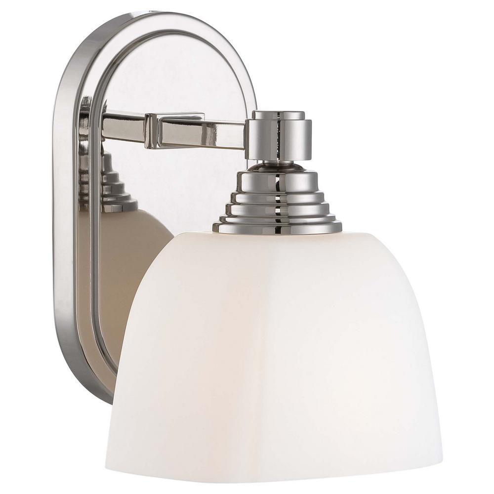 Minka Lavery 1 Light Polished Nickel Bath Light 4521 613 The Home Depot