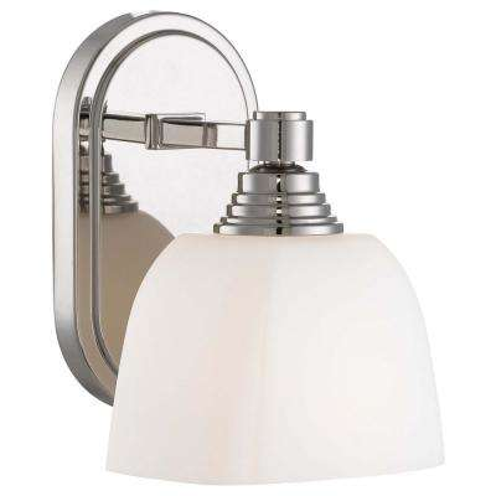 1-Light Polished Nickel Bath Light