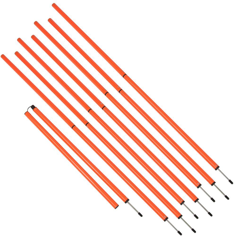 Sports Coaching 6 ft. Agility Training Poles in Orange (8-Set)