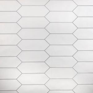 Kite White 4 in. x 11-3/4 in. Porcelain Subway Floor and Wall Tile (11.81 sq. ft. / case)