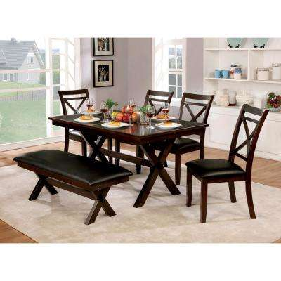 Jolie Dark Cherry Transitional Style Dining Table