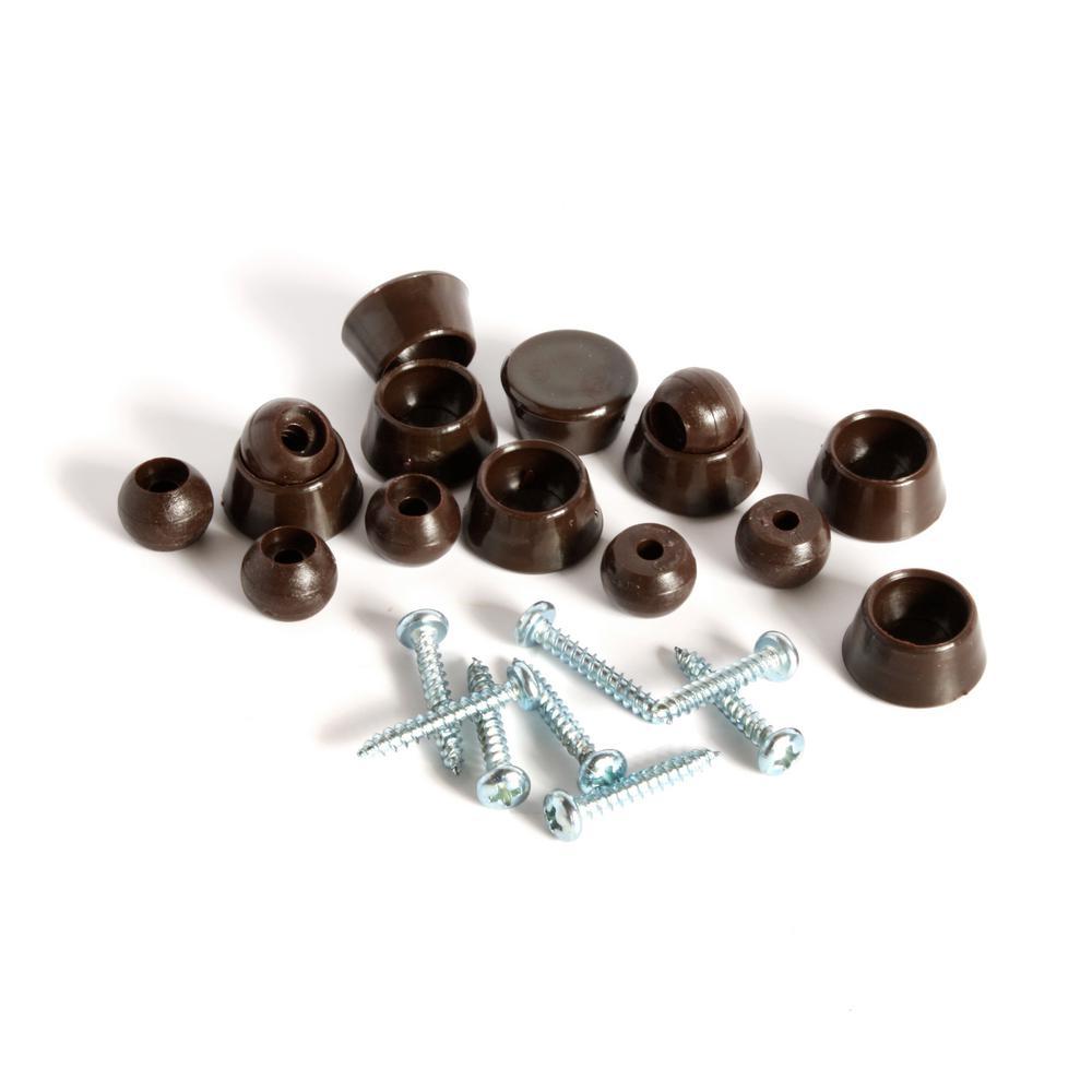 Slipstick 7 8 In Chocolate Brown Swivel Floor Protector Sliders