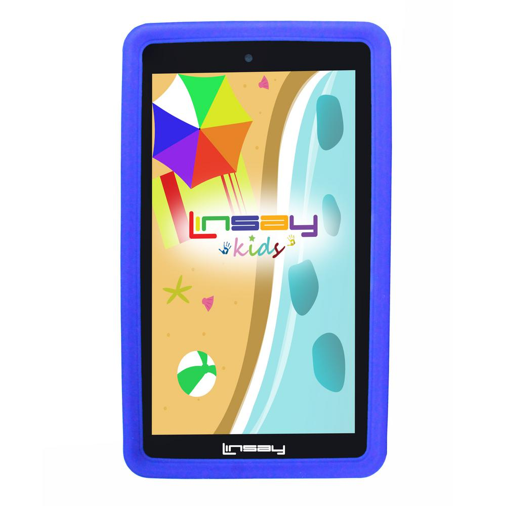 LINSAY 7 in. 2GB RAM 16GB Android 9.0 Pie Quad Core Tablet with Blue Kids Defender Case was $119.99 now $59.99 (50.0% off)
