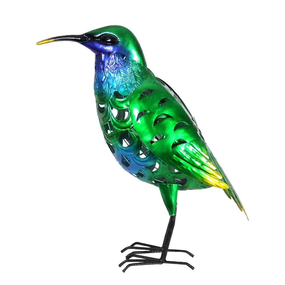 Solar Hummingbird Garden Statue