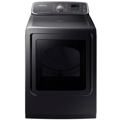 7.4 cu. ft. Gas Dryer with Steam in Black Stainless, ENERGY STAR