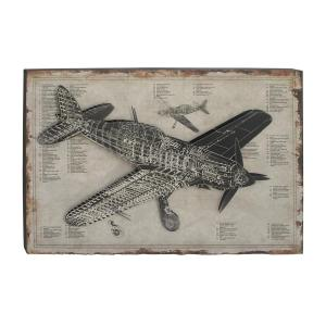 31 in x 47 in rustic wood and iron vintage plane blueprint wall internet 301700068 malvernweather Images